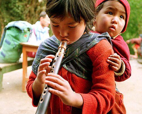 girl flute
